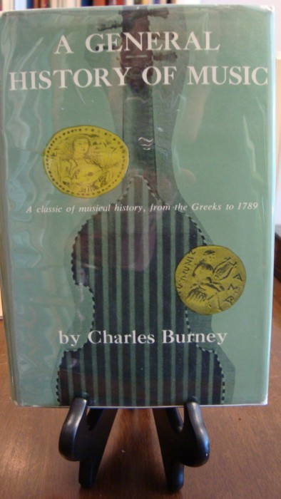GENERAL (A) HISTORY OF MUSIC;. Charles Burney.