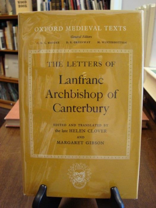 LETTERS OF ARCHBISHOP OF CANTEBURY;. Helen Clover, Margaret Gibson.