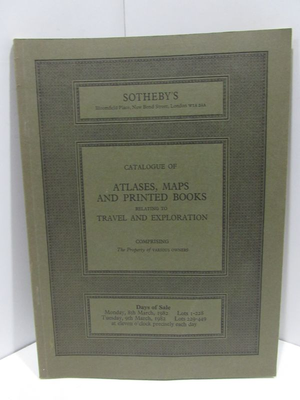 ATLASES, MAPS AND PRINTED BOODS RELATING TO TRAVEL AND EXPLORATION;. Sotheby's.