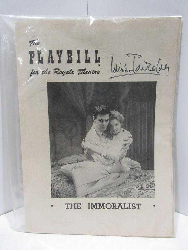 PLAYBILL (THE) FOR THE ROYAL THEATRE: THE IMMORALIST;.