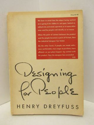 DESIGNING FOR PEOPLE;. Henry Dreyfuss.