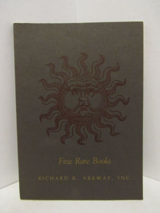 FINE RARE BOOKS;. Richard Arkway.