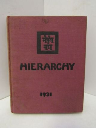 HIERARCHY 1931;. Unknown