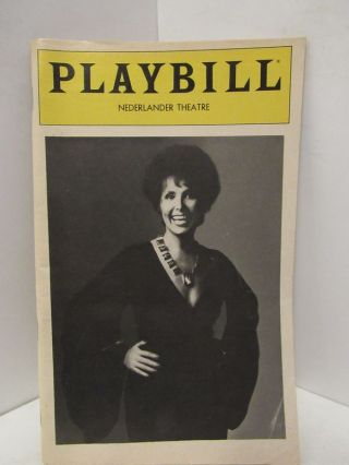 PLAYBILL NEDERLANDER THEATRE LENA HORNE THE LADY AND HER MUSIC;. Playbill