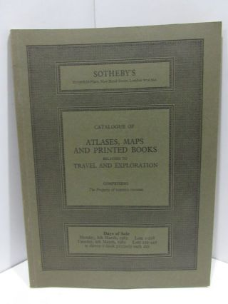 ATLASES, MAPS AND PRINTED BOODS RELATING TO TRAVEL AND EXPLORATION;. Sotheby's