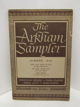 ARKHAM (THE) SAMPLER SUMMER 1949;. August Derleth