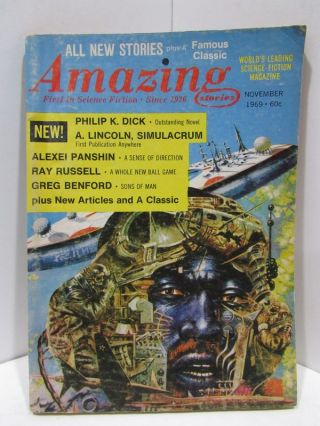 AMAZING STORIES NOVEMBER 1969;. Various.