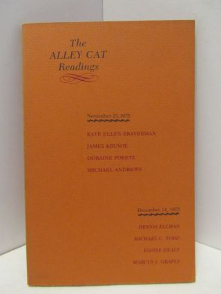 ALLEY CAT READINGS;. Marcus J. And Andrews Grapes, Michael