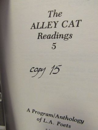 THE ALLEY CAT READINGS 5;