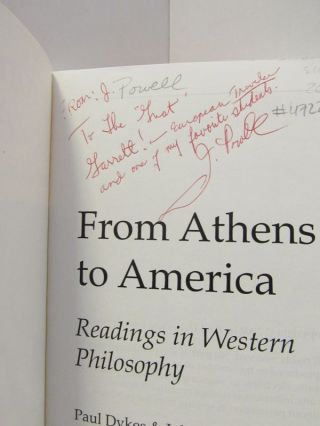 FROM ATHENS TO AMERICA;