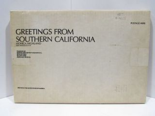 GREETINGS FROM SOUTHERN CALIFORNIA;. Monica Highland.