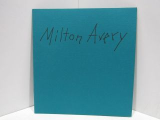 WORKS ON PAPER;. Milton Avery