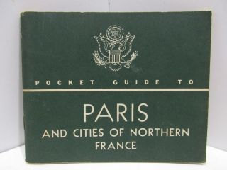 POCKET GUIDE TO PARIS;. War, Navy Departments