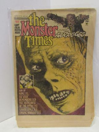 MONSTER (THE) TIMES APR 1975, NO.40