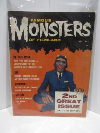 FAMOUS MONSTERS OF FILMLAND #2;. Forrest J. Ackerman