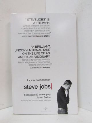 STEVE JOBS;. Aaron Sorkin, Walter Isaacson, adapted from