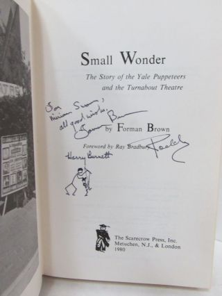 SMALL WONDER; The Story of the Yale Puppeteers & Turnabout Theatre