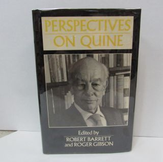 PERSPECTIVES ON QUINE;. Robert Barrett, Roger Gibson