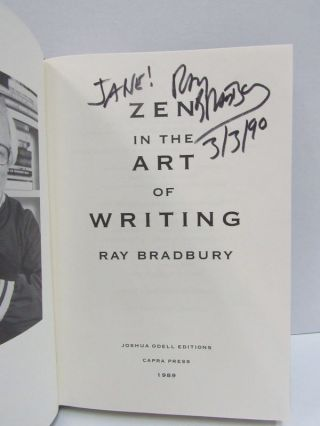 ZEN IN THE ART OF WRITING; Essays on Creativity